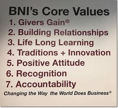 BNI Oklahoma Core Values